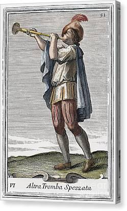 Slide Trumpet, 1723 Canvas Print by Granger