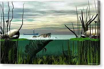 Smallmouth Bass Canvas Print by Walter Colvin