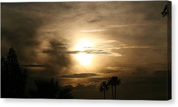 Smokey Dusk Canvas Print by Louise Mingua
