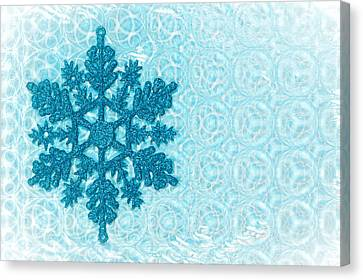 Christmas Cards Canvas Print - Snow Flake by Tom Gowanlock