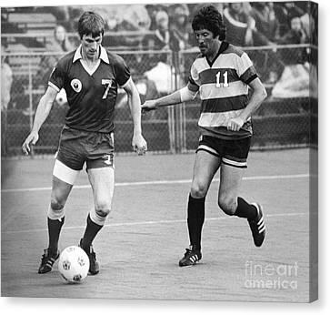Fearnley Canvas Print - Soccer Match, 1977 by Granger