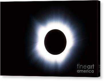 Solar Eclipse Canvas Print by Stocktrek Images