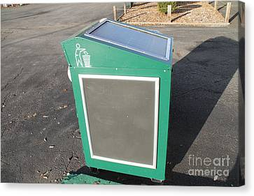 Solar Powered Trash Compactor Canvas Print by Photo Researchers, Inc.