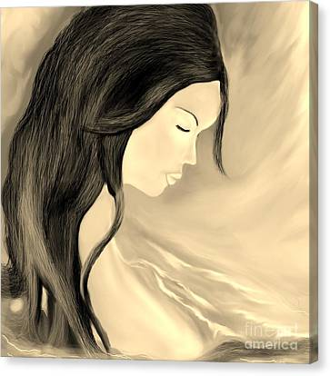 Canvas Print featuring the drawing Solitude  by Lori  Lovetere