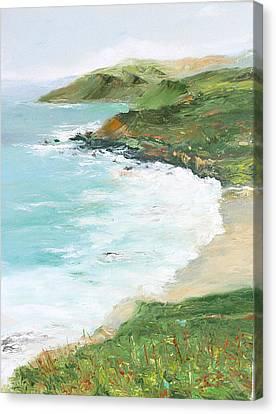 Somewhere On Big Sur Canvas Print by Max Mckenzie