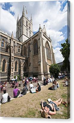 Southwark Cathedral Canvas Print by Andrew  Michael