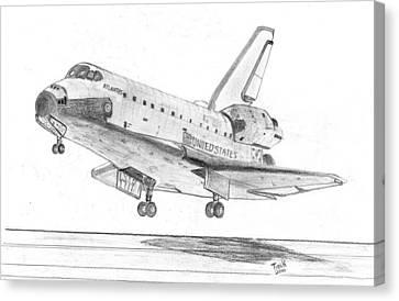 Space Shuttle Atlantis Canvas Print by Tibi K