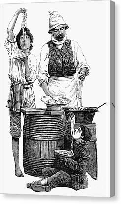 Spaghetti Vendor Canvas Print by Granger