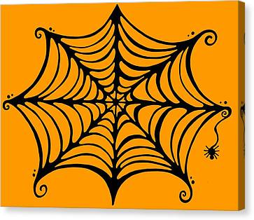 Spider's Web Canvas Print by Mandy Shupp