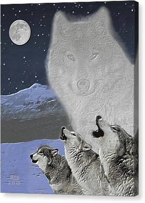 Spirit Wolf Canvas Print by Richard Stevens
