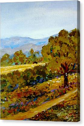 Spring In The Valley Canvas Print by Constantinos Charalampopoulos