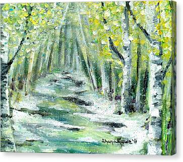 Canvas Print featuring the painting Spring by Shana Rowe Jackson