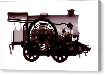 Spring Train, X-ray Canvas Print by Neal Grundy