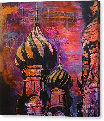 St Basil Canvas Print by Martina Anagnostou