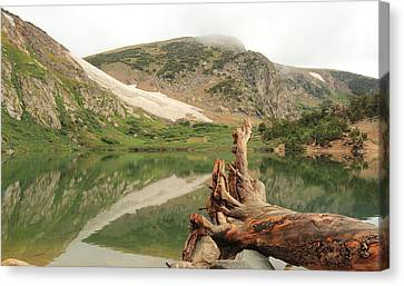 St. Mary's Lake And Glacier Canvas Print by Scott Rackers