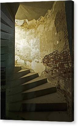 Staircase Down Into The Demilune Canvas Print by Gordon Ripley