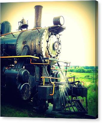 Steam Engine 18 Canvas Print by John Carncross