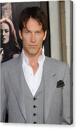 Stephen Moyer At Arrivals For True Canvas Print by Everett