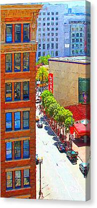 Stockton Street San Francisco . View Towards Union Square Canvas Print by Wingsdomain Art and Photography