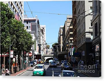Stockton Street Tunnel In San Francisco Canvas Print by Wingsdomain Art and Photography