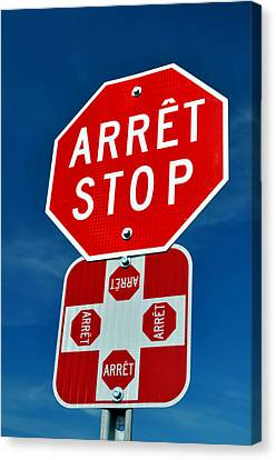 Stop Sign. Canvas Print