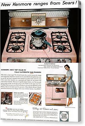 Stove Advertisement, 1957 Canvas Print by Granger