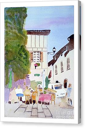 Street Cafe' Canvas Print