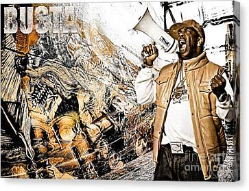 Street Phenomenon Busta Canvas Print by The DigArtisT