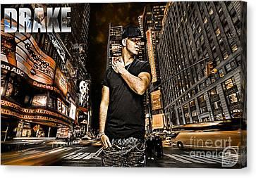 Street Phenomenon Drake Canvas Print