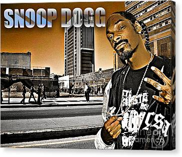 Street Phenomenon Snoop Dogg Canvas Print by The DigArtisT