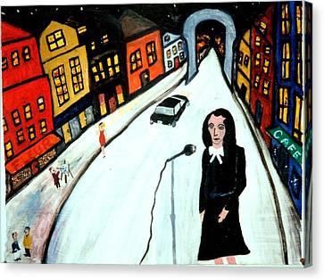 Street Singer Canvas Print by Eliezer Sobel