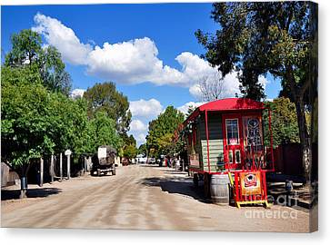 Street With Character Canvas Print by Kaye Menner