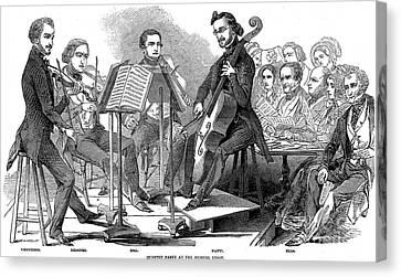 String Quartet, 1846 Canvas Print by Granger