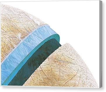 Galilean Moons Canvas Print - Structure Of Europa, Artwork by Gary Hincks