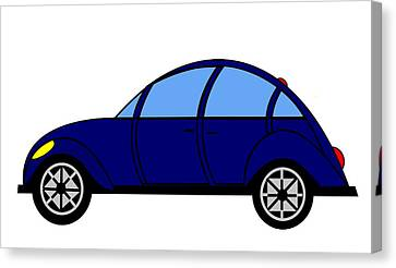 Student Delight -  Virtual Car Canvas Print by Asbjorn Lonvig