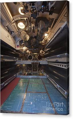 Submarine Torpedo Room Canvas Print by Rob Tilley