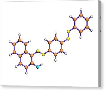 Sudan Red Canvas Print - Sudan 3 Molecule by Dr Tim Evans