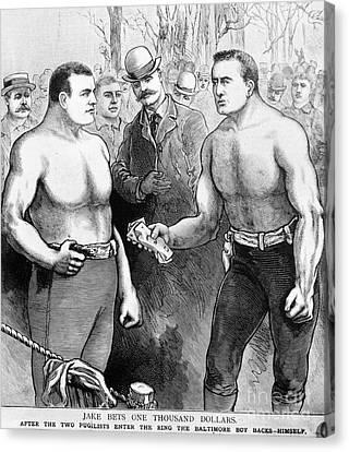 Sullivan Vs. Kilrain, 1889 Canvas Print by Granger