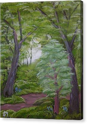 Canvas Print featuring the painting Summer Morning by Charles and Melisa Morrison
