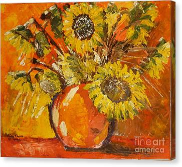 Sunflowers Canvas Print by Judy Morris