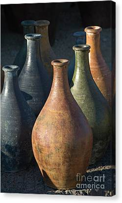 Sunrise And Pottery Canvas Print by Sandra Bronstein