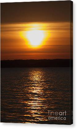 Canvas Print featuring the photograph Sunrise On Seneca Lake by William Norton
