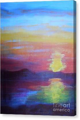 Sunrise Seascape Canvas Print by Lam Lam
