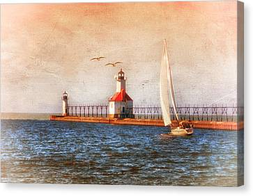 Canvas Print featuring the photograph Sunset Aglow by Mary Timman