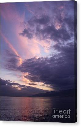 Sunset At Messina Canvas Print by Kathleen Pio