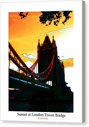 Sunset At Tower Brigde  Canvas Print by Steve K