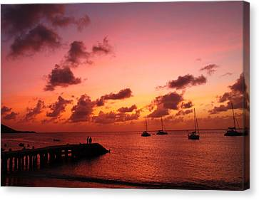 Sunset Canvas Print by Catie Canetti