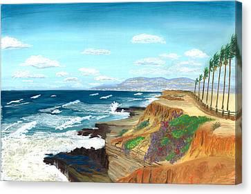 Tropical Sunset Canvas Print - Sunset Cliffs by Jackie Novak