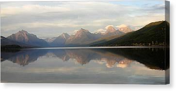 Sunset Lake Mcdonald Canvas Print