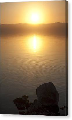 Sunset Over The Dead Sea Canvas Print by Taylor S. Kennedy